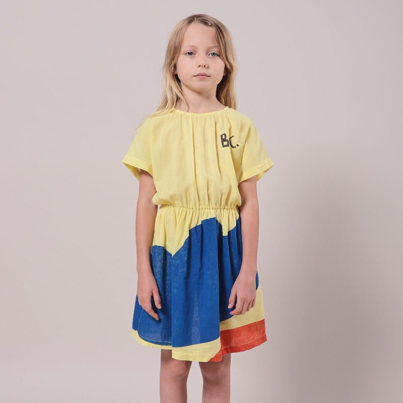 bobo choses(ボボショセス,ボボショーズ)2021SS <BR>Landscape Woven Dress<BR>キッズワンピース
