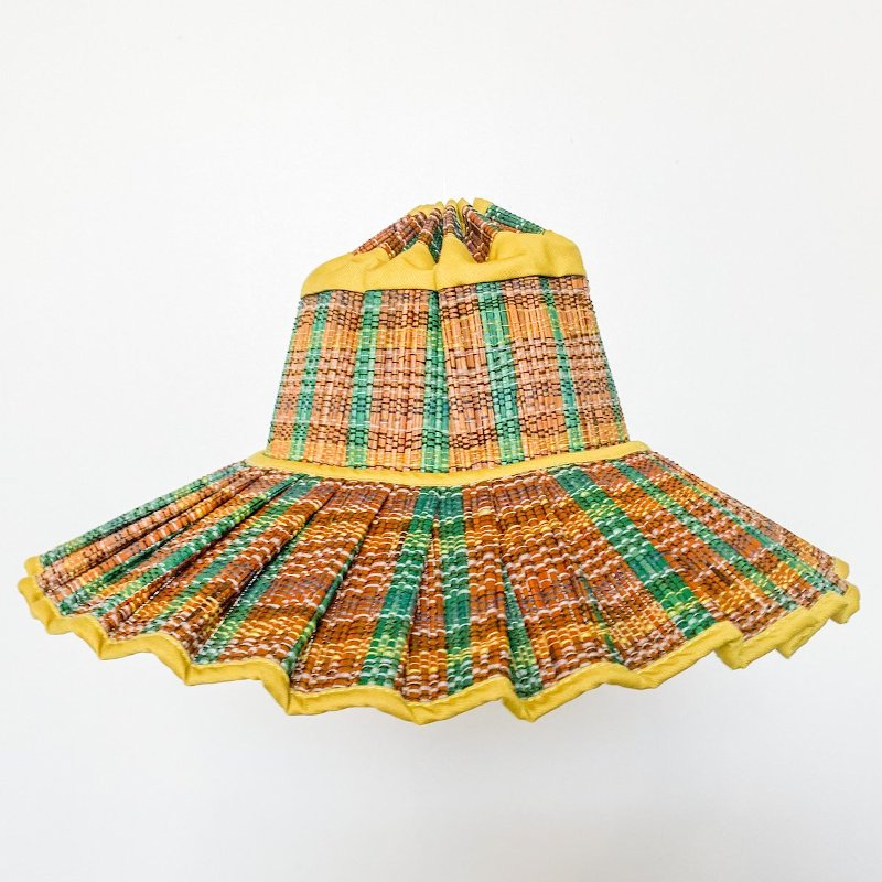 Lorna Murray(ローナマーレイ)<BR>Adult Island Capri<BR>Zanzibar yellow <BR>天然素材ハット レディース帽子<BR>親子コーデ