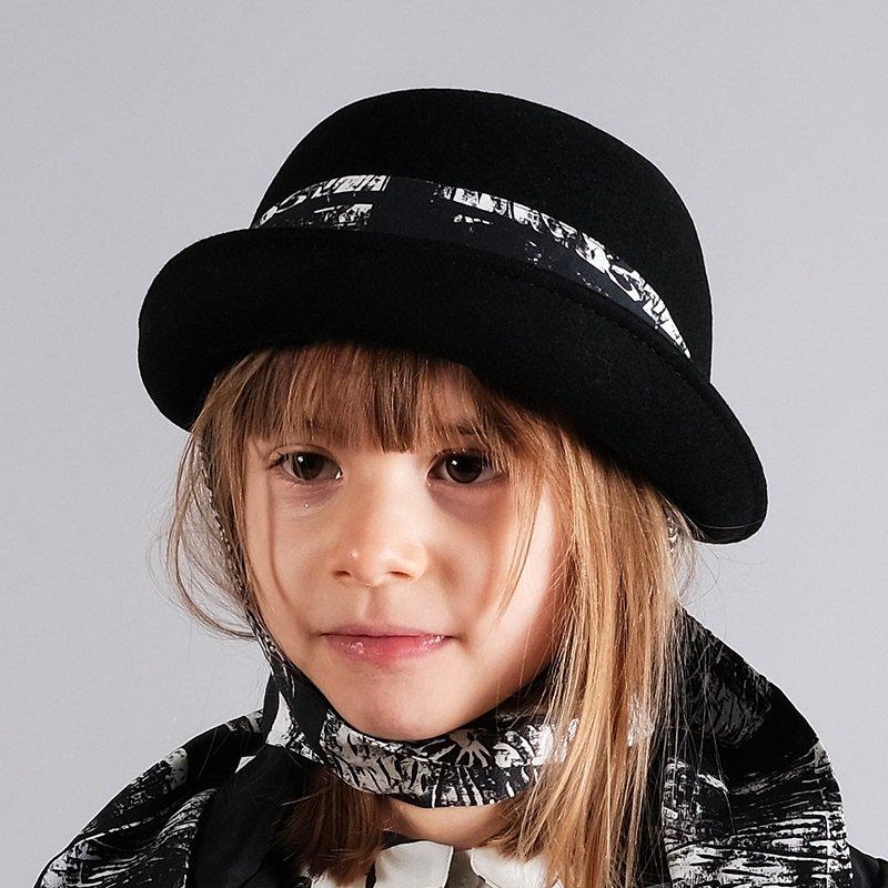WOLF&RITA(ウルフアンドリタ) 2021AW <BR>LAURINHA HYDRA<BR>リボン付きデザインハット(子供帽子)