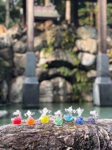【7体コンプリート版】「七色の龍神たち(Glassチャクラドラゴン)」 (改)リノアネラ 〜すべての愛しきものたちへの導き〜
