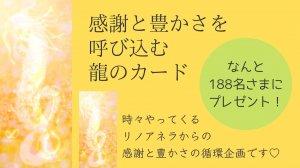 【188名限定プレゼント】感謝と豊かさを呼び込龍のカード