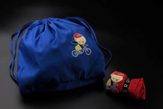 もーりーのエコバッグ(リュックタイプ・青)