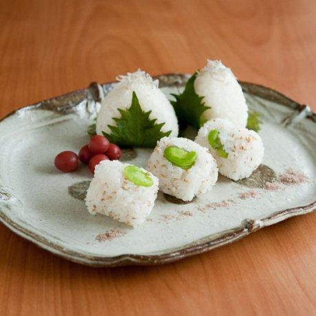 白水玉だ円皿(大)