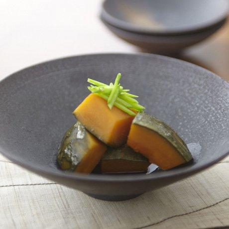 黒釉平鉢(L)