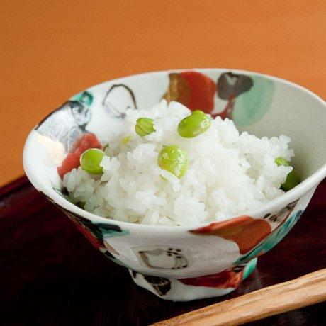 色絵椿飯碗
