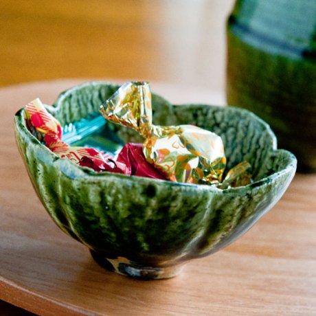 織部花形小鉢