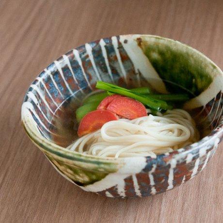 志野織部十草煮物鉢(小)