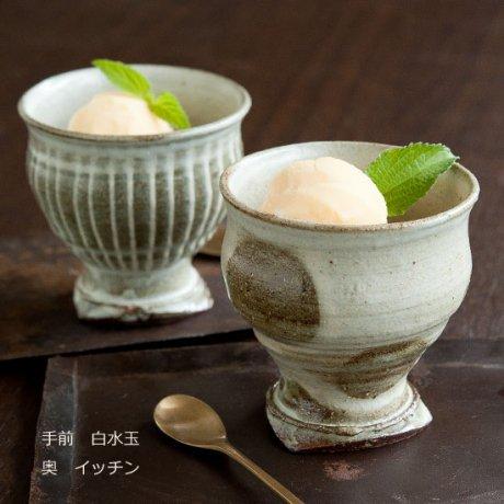立湯呑(白水玉・白イッチン)