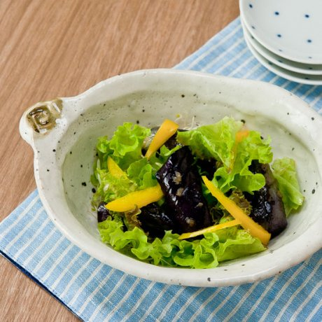 鉄粉引楕円煮物鉢
