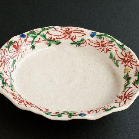 花つぼみ5.5寸リム皿