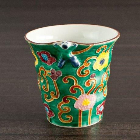 緑交趾フリーカップ