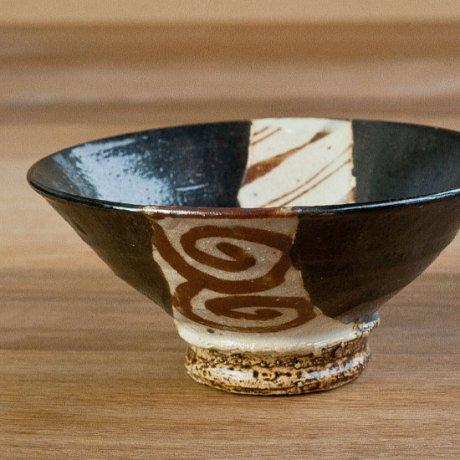 黒織部茶漬碗