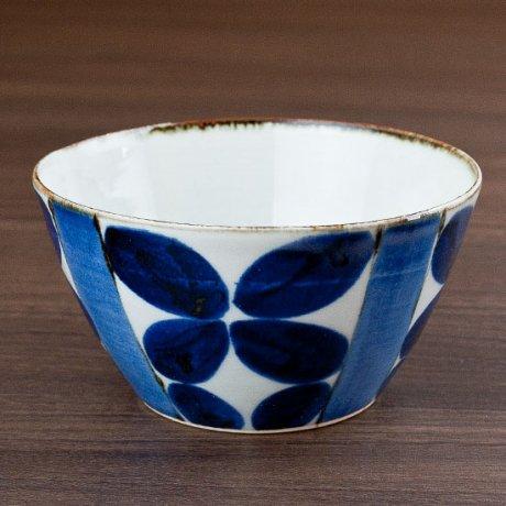 藍四つ葉4.5寸ボウル