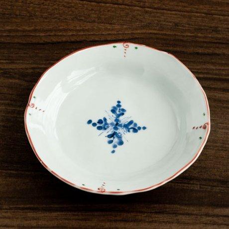 十字花4.5寸段付取皿