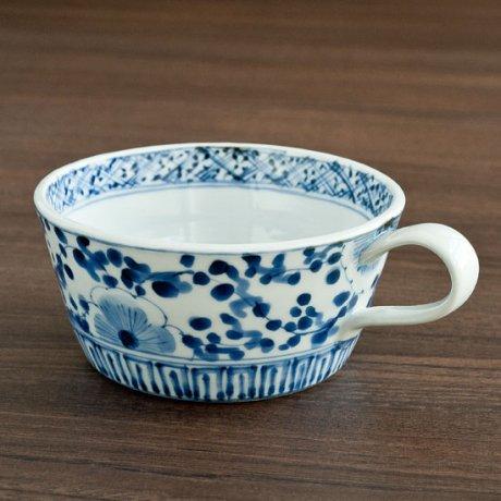 染付花唐草スープカップ