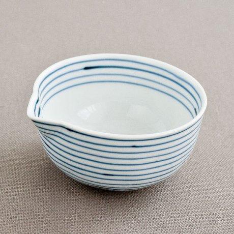 ラインライン片口豆鉢(青)