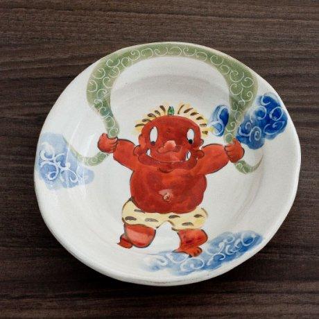 鬼と風呂敷5寸皿