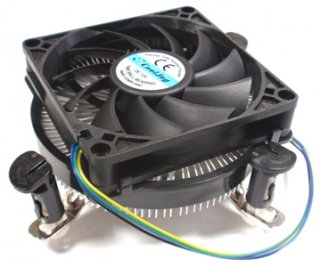 Intel socket LGA1156/1155/1150/1151対応CoolJag製CPUクーラー(PushPinタイプ)