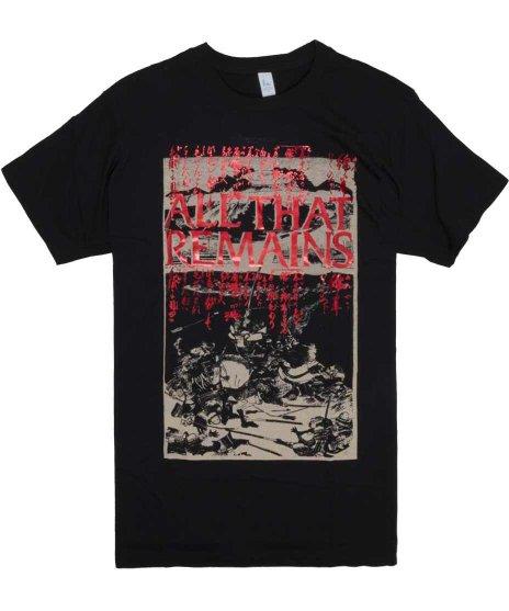 オール ザット リメインズ ( All That Remains ) Battle Scene Foil バンドTシャツカラー:ブラック<br>サイズ:M、L<br>日本の合戦をイメージしたデザインです。