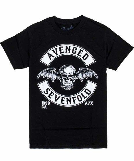 アヴェンジド セブンフォールド ( Avenged Sevenfold ) Death Bat バンドTシャツカラー:ブラック<br>サイズ:S<br>A7Xの定番ロゴデスバットのデザインです。