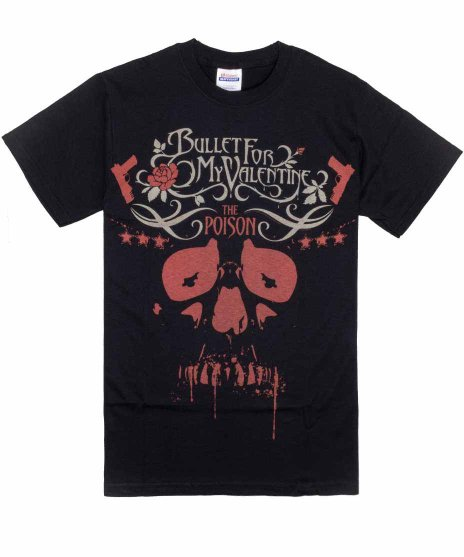 <img class='new_mark_img1' src='https://img.shop-pro.jp/img/new/icons39.gif' style='border:none;display:inline;margin:0px;padding:0px;width:auto;' />Bullet For My Valentine Poison Skull Sのみ バンドTシャツ