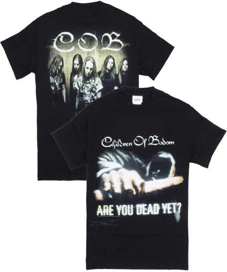 チルドレン オブ ボドム ( Children Of Bodom ) Fist バンドTシャツカラー:ブラック<br>サイズ:S<br>アー・ユー・デッド・イェット?のジャケットのデザインです。