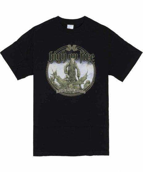 High On Fire Death Is This Communion バンドTシャツカラー:ブラック<br>サイズ:M<br>Death is Communionのグラフィックのデザインです。