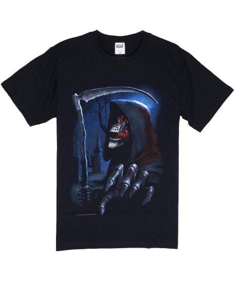 死神 メンズTシャツカラー:ブラック<br>サイズ:M<br>大きく死神がプリントされたデザインです。