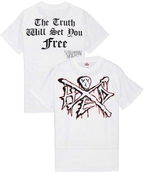 (hed)pe The Truth バンドTシャツカラー:ホワイト<br>サイズ:M<br>Hed Peのバンドロゴのスカルをプリントしたデザインです。
