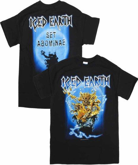 アイスド アース ( Iced Earth ) The Watcher バンドTシャツカラー:ブラック<br>サイズ:M<br>バンドキャラクターのAbominaeのデザインです。