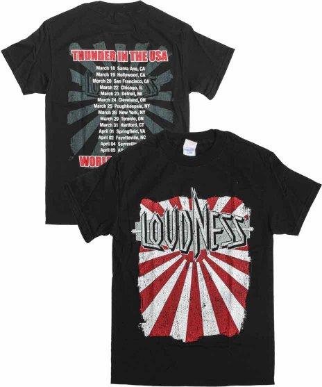 ラウドネス ( Loudness ) ツアー バンドTシャツカラー:ブラック<br>サイズ:S〜L<br>2006年の北米ツアーのデザインです。