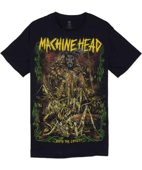 マシンヘッド ( Machinehead ) Unto The Locust バンドTシャツカラー:ブラック<br>サイズ:M<br>UNTO THE LOCUSTのジャケットデザインです。