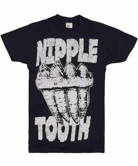 マストドン ( Mastodon ) Nipple Tooth バンドTシャツカラー:ブラック<br>サイズ:S,M<br>マンモスの歯。