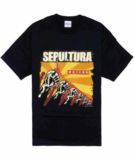 セパルトゥラ ( Sepultura ) Sepulnation バンドTシャツカラー:ブラック<br>サイズ:L<br>2001年のアルバムSEPULNATIONのデザインです。