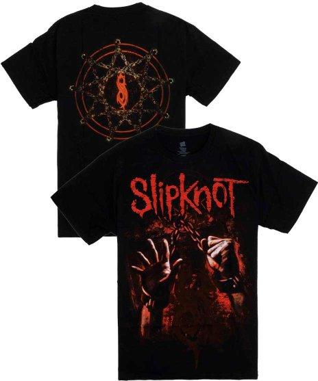 スリップノット ( Slipknot ) Chained Hands バンドTシャツカラー:ブラック<br>サイズ:M<br>バックにSlipknotのロゴを大きくプリント