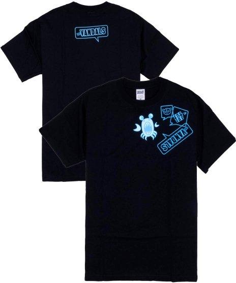 ヴァンダルズ ( The Vandals ) Remix Shingo バンドTシャツカラー:ブラック<br>サイズ:S〜L<br>2005年発売のShingo Japanese Remixバージョンのイラストデザイン