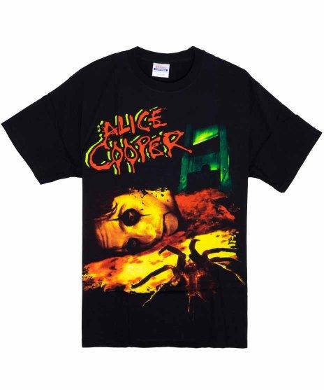 アリス クーパー Shows Over バンドTシャツ Mのみカラー:ブラック<br>サイズ:M<br>アリス・クーパーのライブで使われるギロチンショーのデザインです