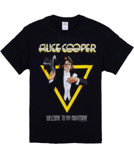 アリス クーパー My Nightmare M,Lのみ バンドTシャツカラー:ブラック<br>サイズ:S〜L<br>Welcome to My Nightmareのアルバムジャケットのデザインです。