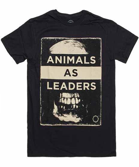 アニマル アズ リーダーズ ( Animals As Leaders ) スカル バンドTシャツカラー:ブラック<br>サイズ:S〜L<br>大きくスカルのデザインです。