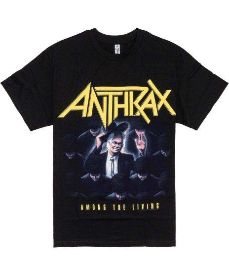 Anthrax Among The Living バンドTシャツカラー:ブラック<br>サイズ:M,L,XL<br>Among The Livingのジャケットのデザイン