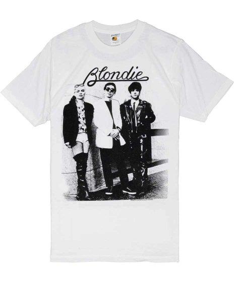 ブロンディー ( Blondie ) Together White バンドTシャツカラー:ホワイト<br>サイズ:S〜L<br>モノクロのグループショットのデザインです。