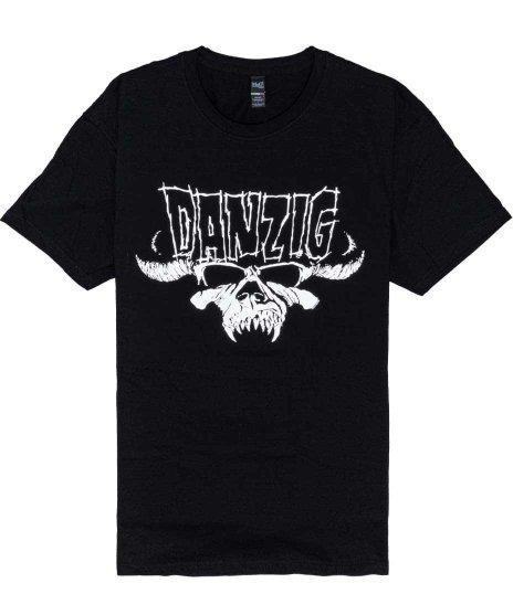 ダンジグ ( Danzig ) Skull & Logo バンドTシャツカラー:ブラック<br>サイズ:M〜XL<br>ダンジグのスカルロゴのデザインです。