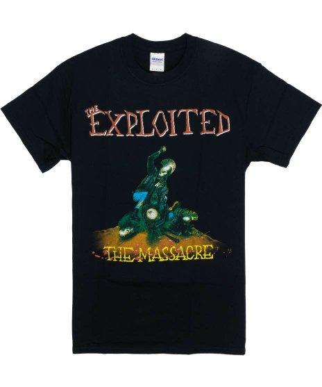 The Exploited ( エクスプロイテッド ) The Massacre バンドTシャツカラー:ブラック<br>サイズ:S〜L<br>1990年のアルバムThe Massacreno のジャケットデザインです。