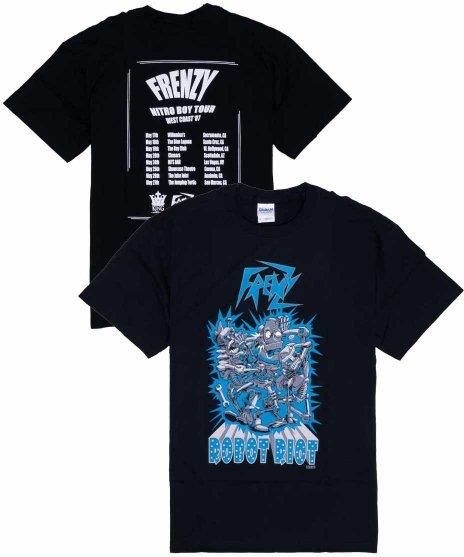 フレンジー ( Frenzy ) 2007年Nitoro Boyツアー  バンドTシャツカラー:ブラック<br>サイズ:S〜L<br>2007年の西海岸ツアーのデザインです