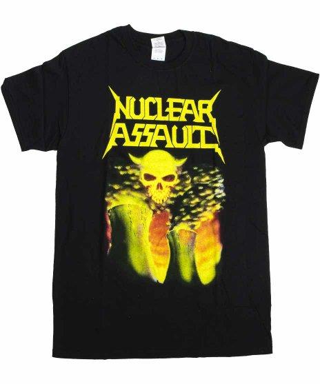 ニュークリア アサルト ( Nuclear Assault ) Survive バンドTシャツカラー:ブラック<br>サイズ:S〜L<br>ニュークリアソルトの3rdアルバムのジャケットのデザインです