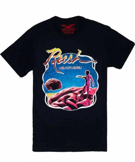 ラッシュ ( Rush ) Circle Hemispheres バンドTシャツカラー:ブラック<br>サイズ:S〜L<br>アルバムHemispheresのジャケットデザイン