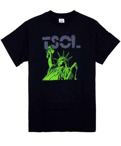TSOL Statue Of Liberty バンドTシャツカラー:ブラック<br>サイズ:S〜L<br>バンドロゴと自由の女神のデザインです。