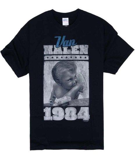 ヴァン ヘレン ( Van Halen ) 1984 Vintage Baby バンドTシャツカラー:ブラック<br>サイズ:S〜L<br>1984のアルバムジャケットのデザインです