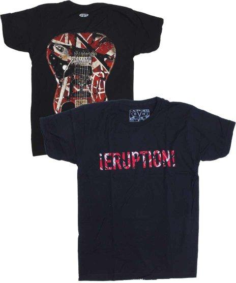 エディー ヴァン ヘレン ( Van Halen ) Eruption バンドTシャツカラー:ブラック<br>サイズ:S〜L<br>バックに大きく赤白黒のフランケンのデザイン