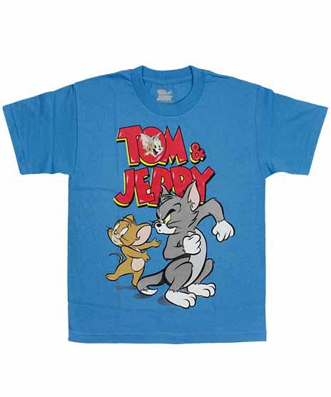 Tom And Jerry アメコミTシャツ Blue S.11サイズ